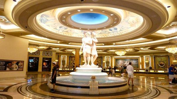 Extravagant lobby of Caesars Palace in Las Vegas