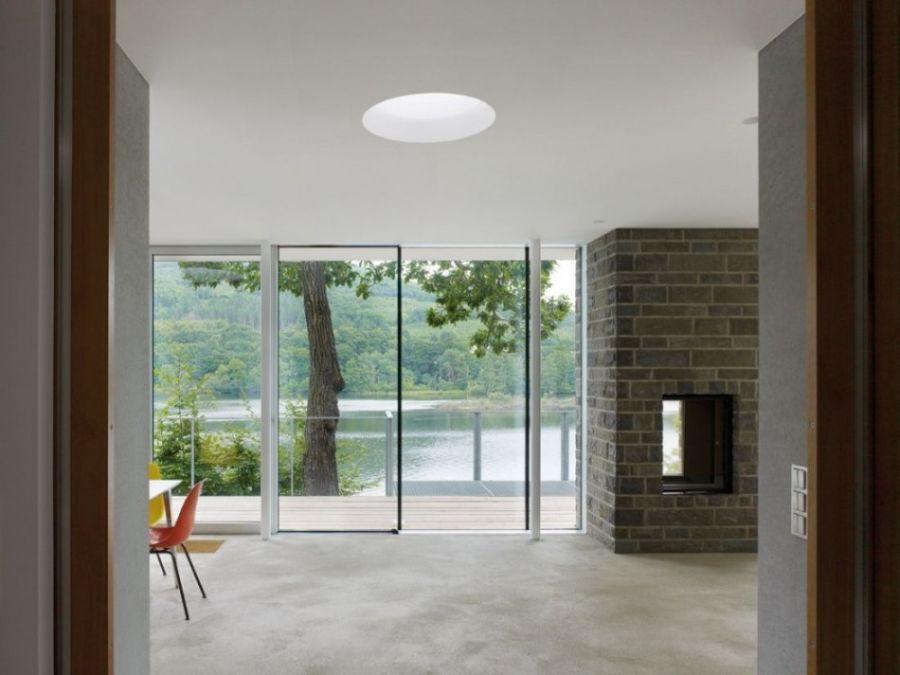 Fabulous interiors offer beautiful lake views