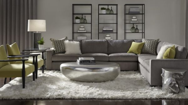 Fabulous use of silver and gray in the living room