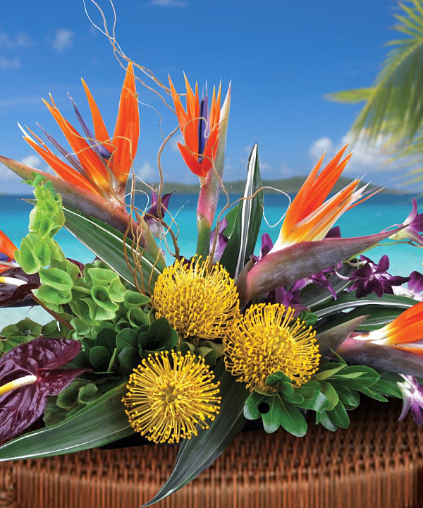 Fall tropical centerpiece