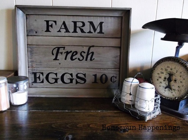 Farm kitchen sign