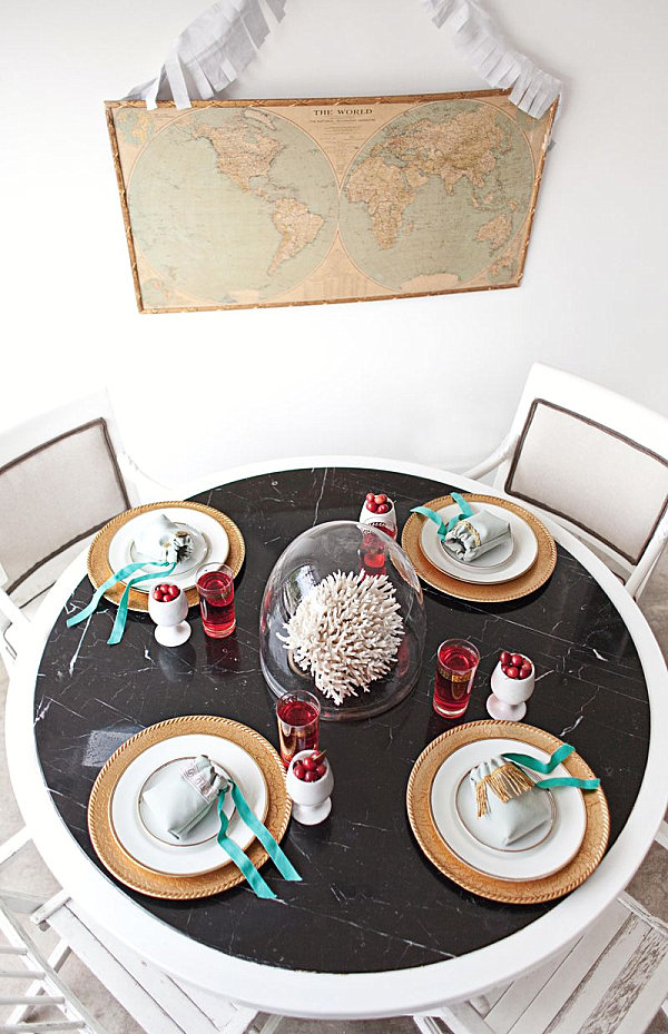Festive summer party table