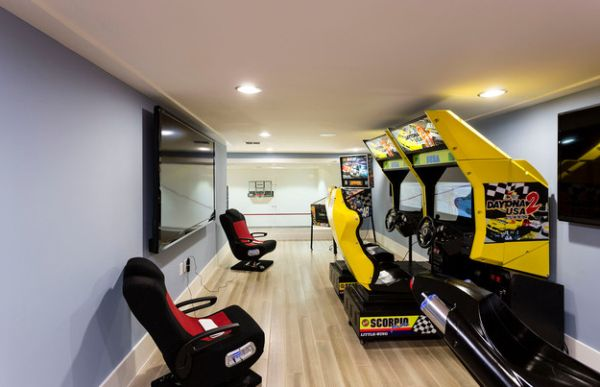 Gaming room for the tech savvy