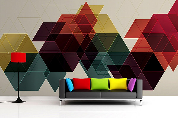 Geometric wallpaper mura