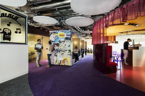 Google Dublin Campus displays Comic Strip-inspired wall