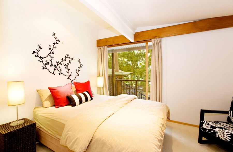 Gorgeous bedroom at Treetops