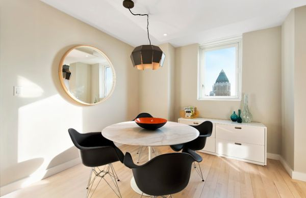 Herman Miller Eames chair along with the Eero Saarinen classic