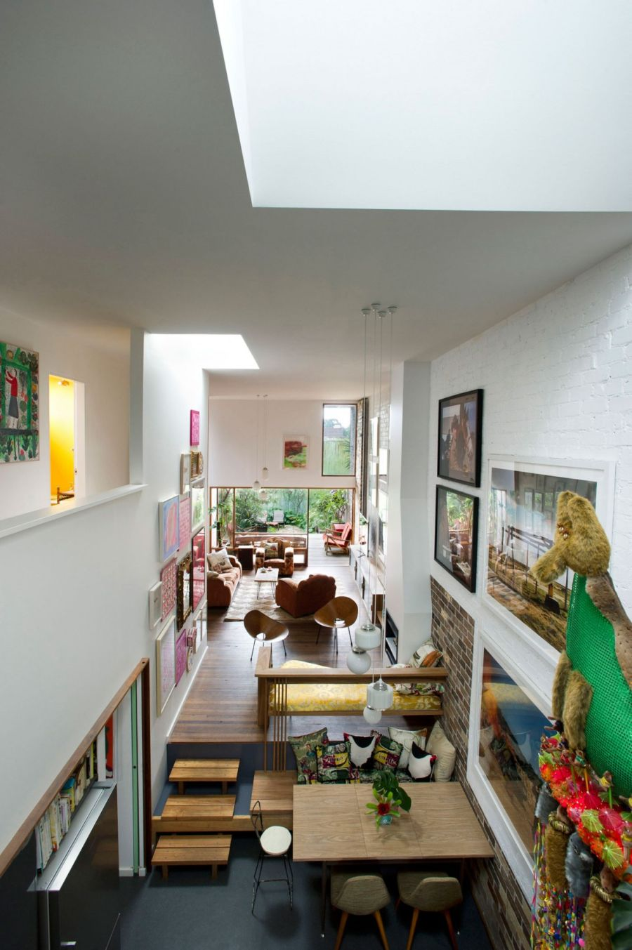 High ceiling creates a spacious look