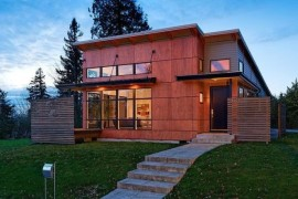 Red Wood Exterior and Ravishing Interiors Shape Portland's Hollcroft Residence