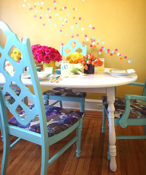 Ice cream social table setting