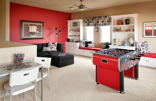 Incorporate some fun additions in the family room