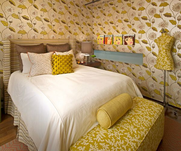Interesting comc strip inspired additions to the eclectic Houston bedroom