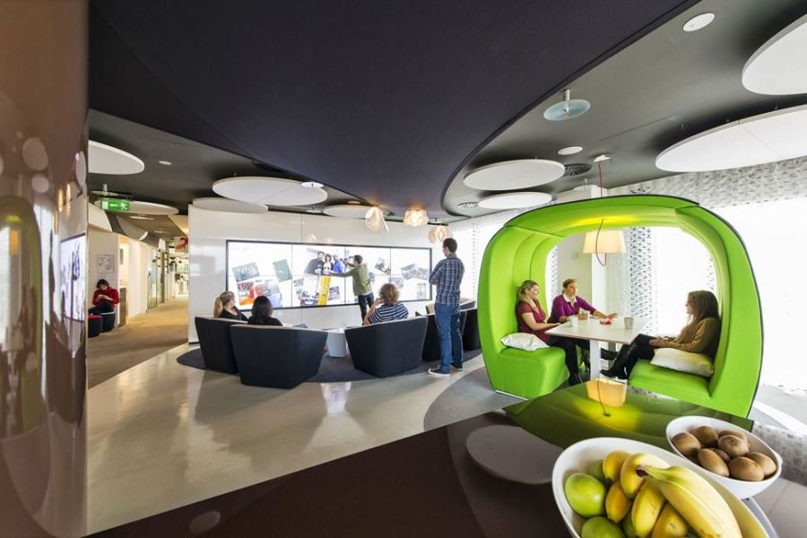 Interiors of the Google Dublin Campus
