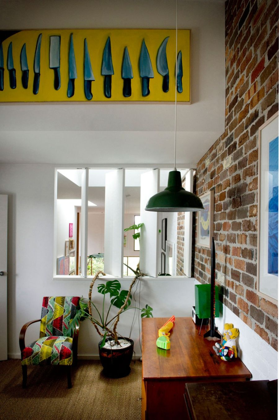 Eclectic sydney house presents colorful and quirky interiors Home interiors sconces