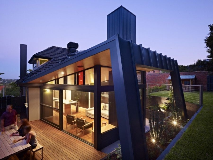 Kew house in Australia Contemporary Extension To A Classic Melbourne Kew House