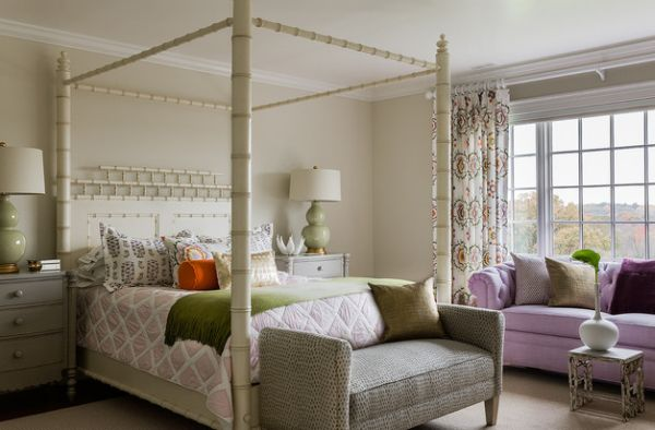 Kids' bedroom with an imaginative and fun four-poster bed