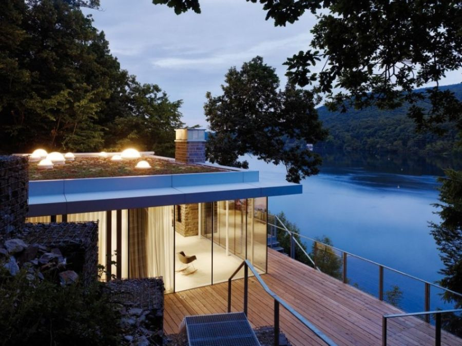 Lake House in Germany Modern German House Clad in Glass Offers Unabated Lake Views