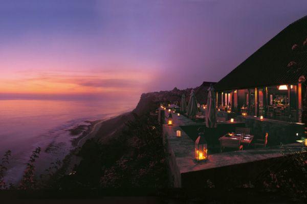 Lantern lighting for the outdoors at the Bulgari Resort
