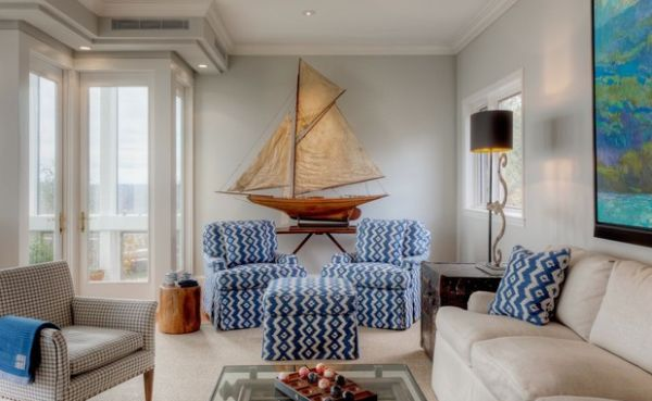 Light blues bring in the nautical touch elegantly