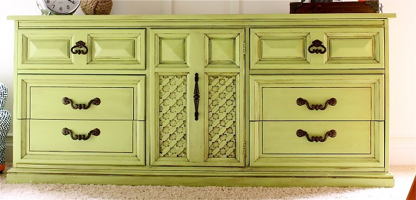 Lime green dresser Colorful DIY Dressers That Pack a Punch