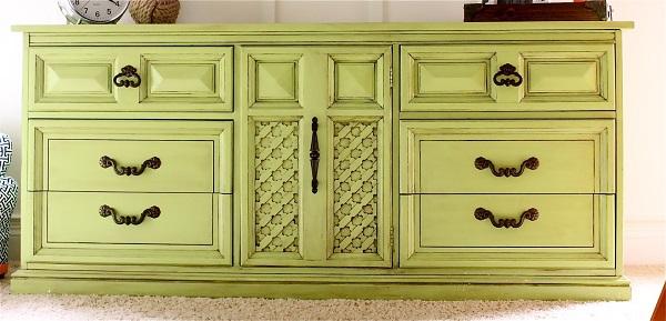 Lime green dresser