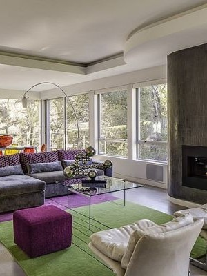 Living Room of Portola Valley House in California