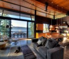 Living room of Coeur D'Alene Lake Cabin