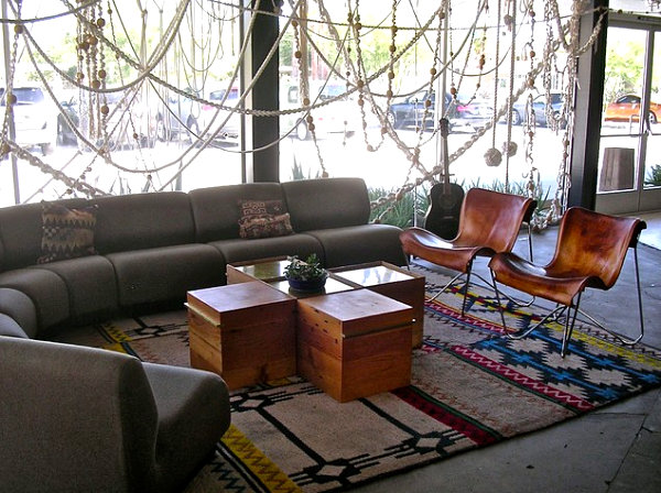 Lobby of the Ace Hotel in Palm Springs