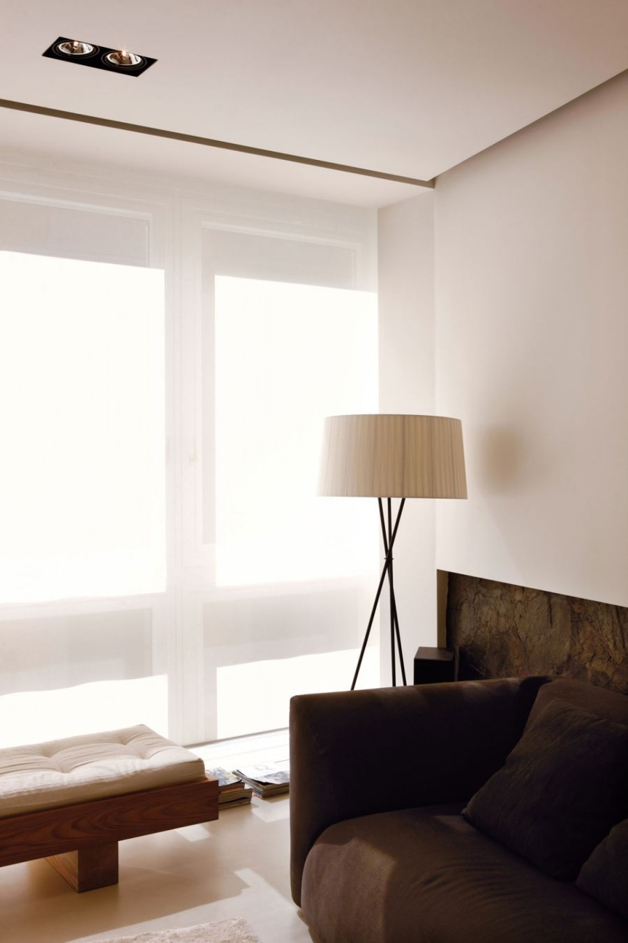Lovely floor lamp inside Doria Residence