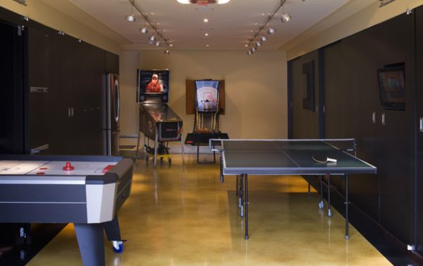Game Room Design Ideas 77 masculine game room design ideas View In Gallery Lovely Rail Lighting In The Game Room Turned Garage