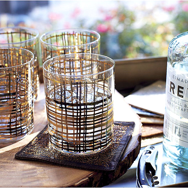 Metallic bar glasses