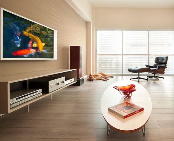 Mid-century eames classics in a modern space