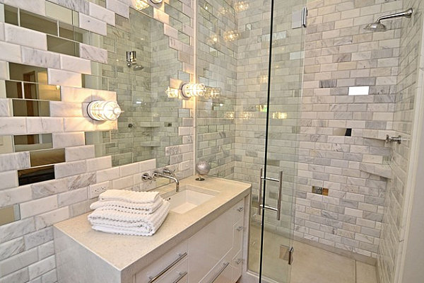 Mirror and tile specialty wall