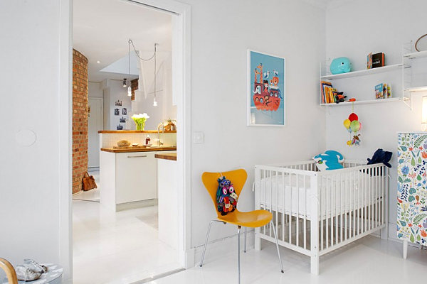 Five nursery themes with whimsical style Scandinavian baby nursery