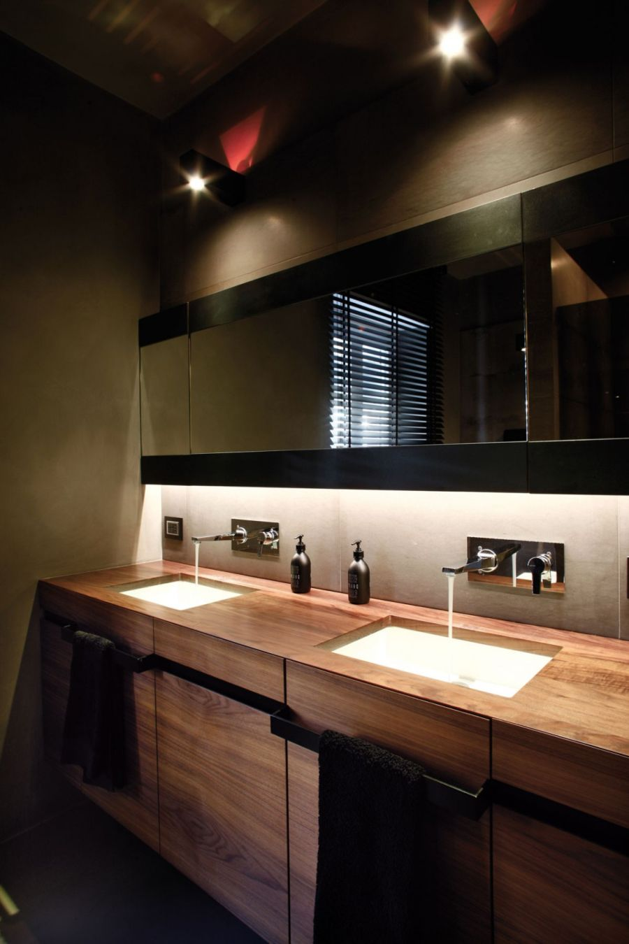 Modern bathroom inside Italian home