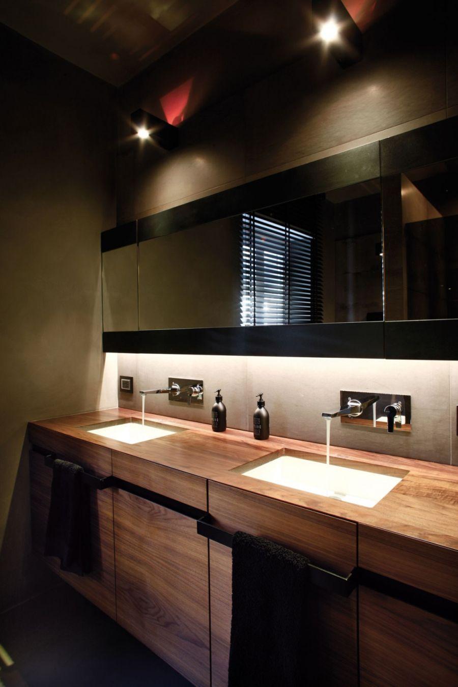 Modern bathroom inside Italian home