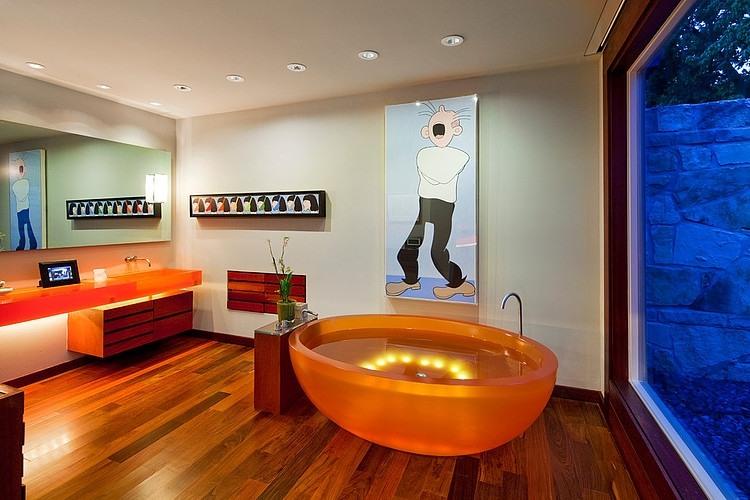 Modern bathroom with a twist