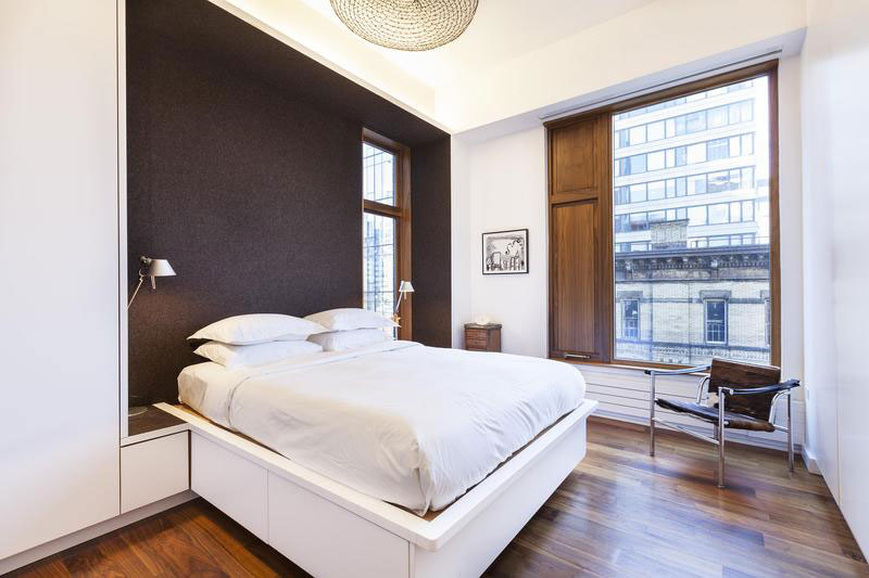 Modern bedroom at SoHo Apartment