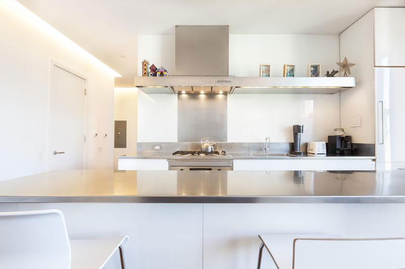 Modern kitchen in SoHo Apartment