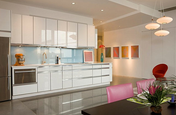 Modern kitchen with interesting touches