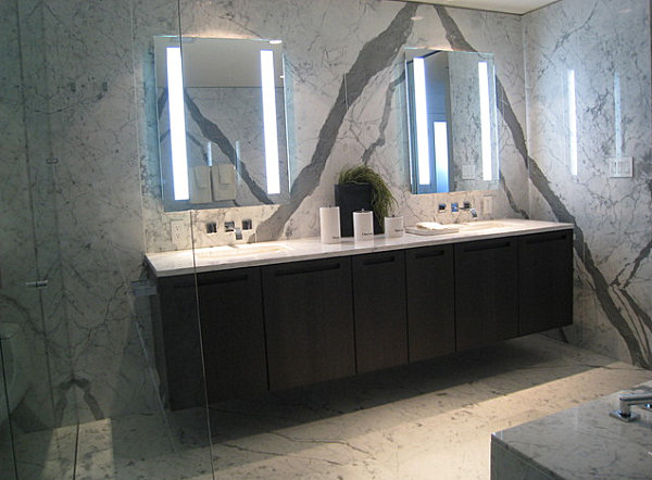 Modern lighted mirrors
