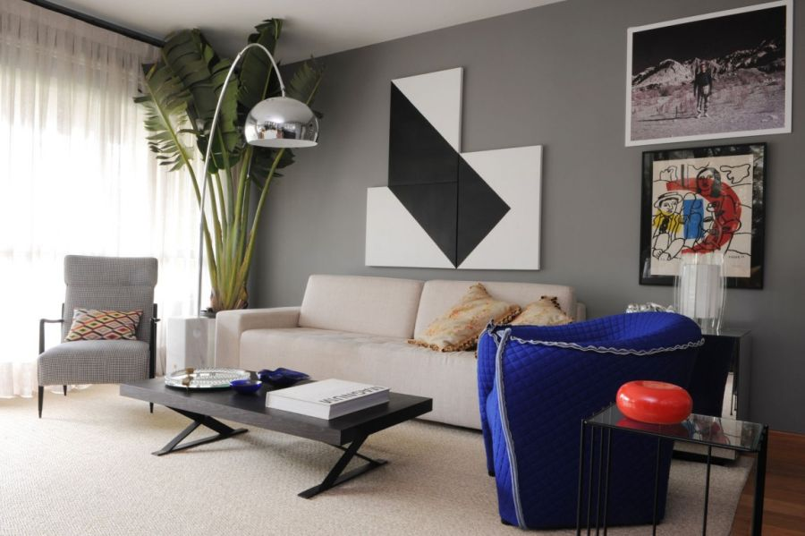 Modern living room with chic furniture