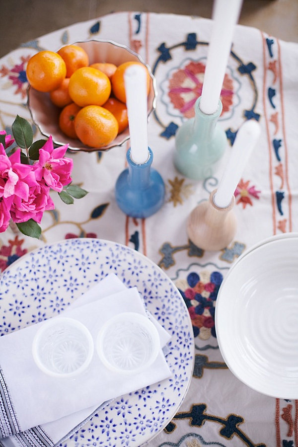 Moroccan table setting for two