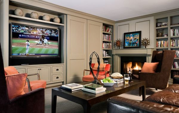 Murphy bed wall unit with an in-built TV