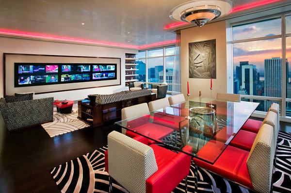 Neon dining room