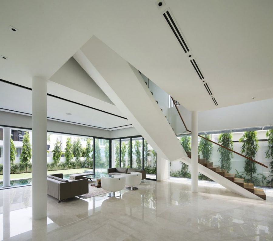 Neutral interiors in white