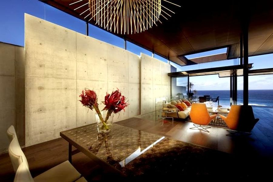 Ocean views from the contemporary home