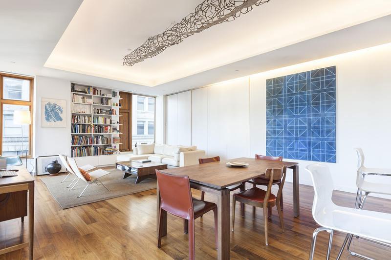 Open floor living plan at the Golden Ratio