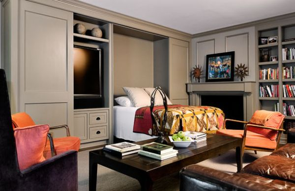 Bed In Living Room : Murphy Bed Design Ideas: Smart Solutions For Small Spaces