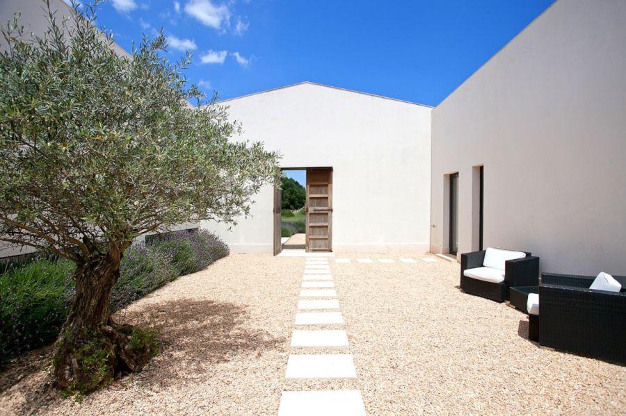 Outdoor open area at the mallorca home